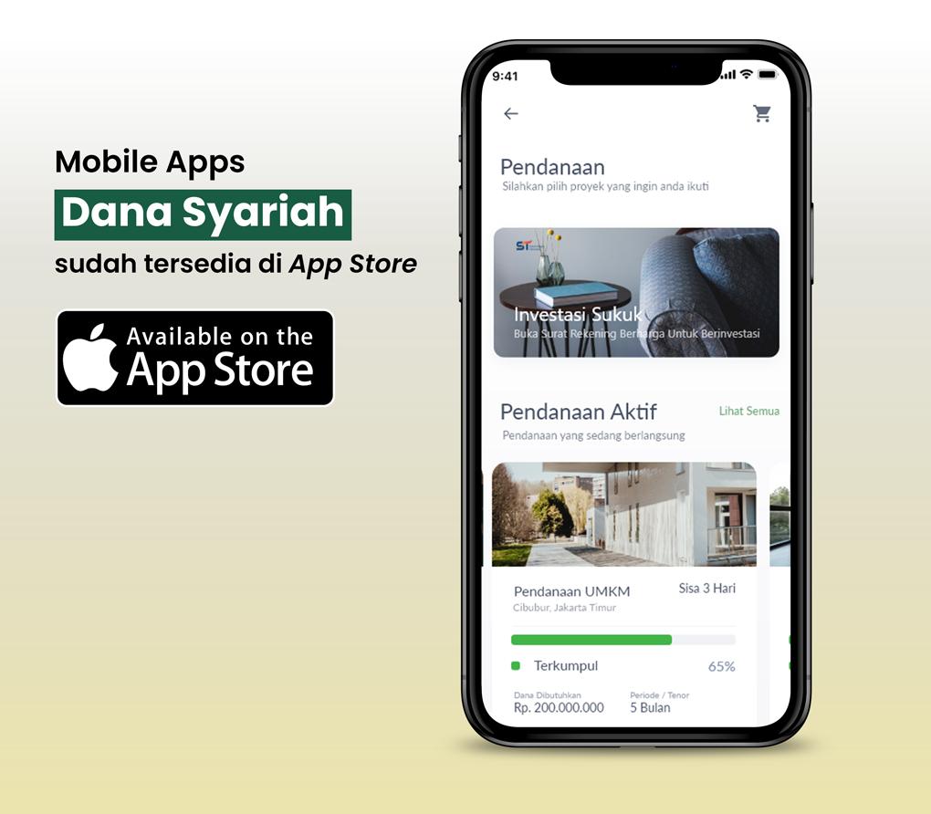 Dana Syariah Mobile App Danasyariah.id kini Hadir di IoS