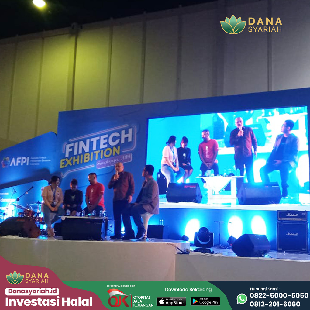 Dana Syariah Sosialisasi dan Edukasi Teknologi Finansial Bersama AFPI di Surabaya Fintech Exhibition 2019