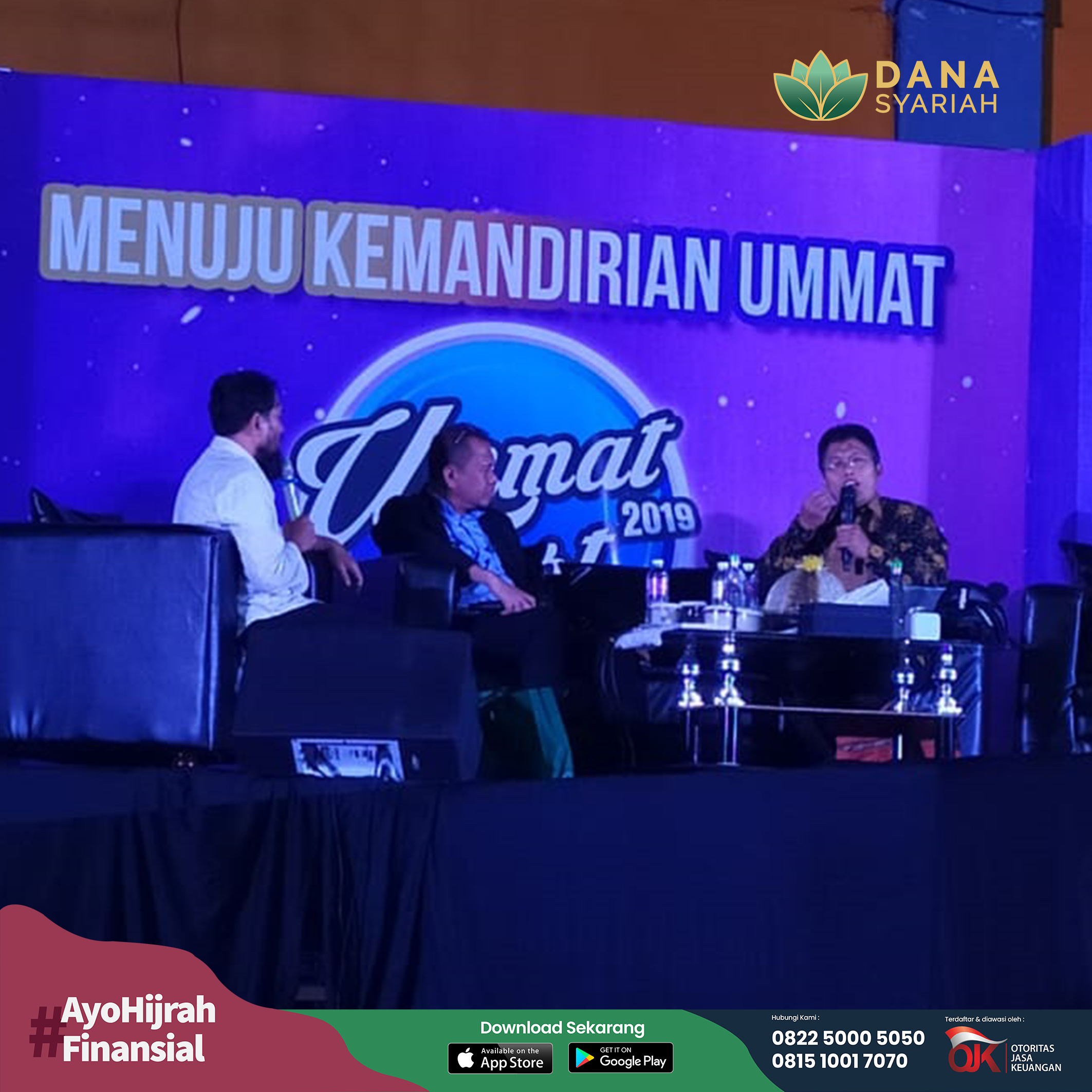 Dana Syariah Semarak Ummat Fest 2019 '#AyoUsaha' Dalam Mukernas XII Wahdah Islamiyah di Makassar