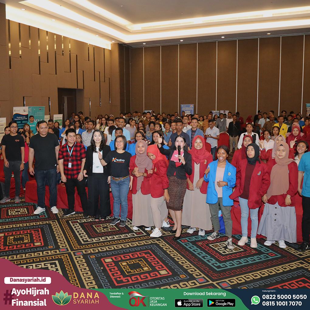 Dana Syariah Edukasi dan Sosialisasi Teknologi Finansial Pada Acara FINEAST