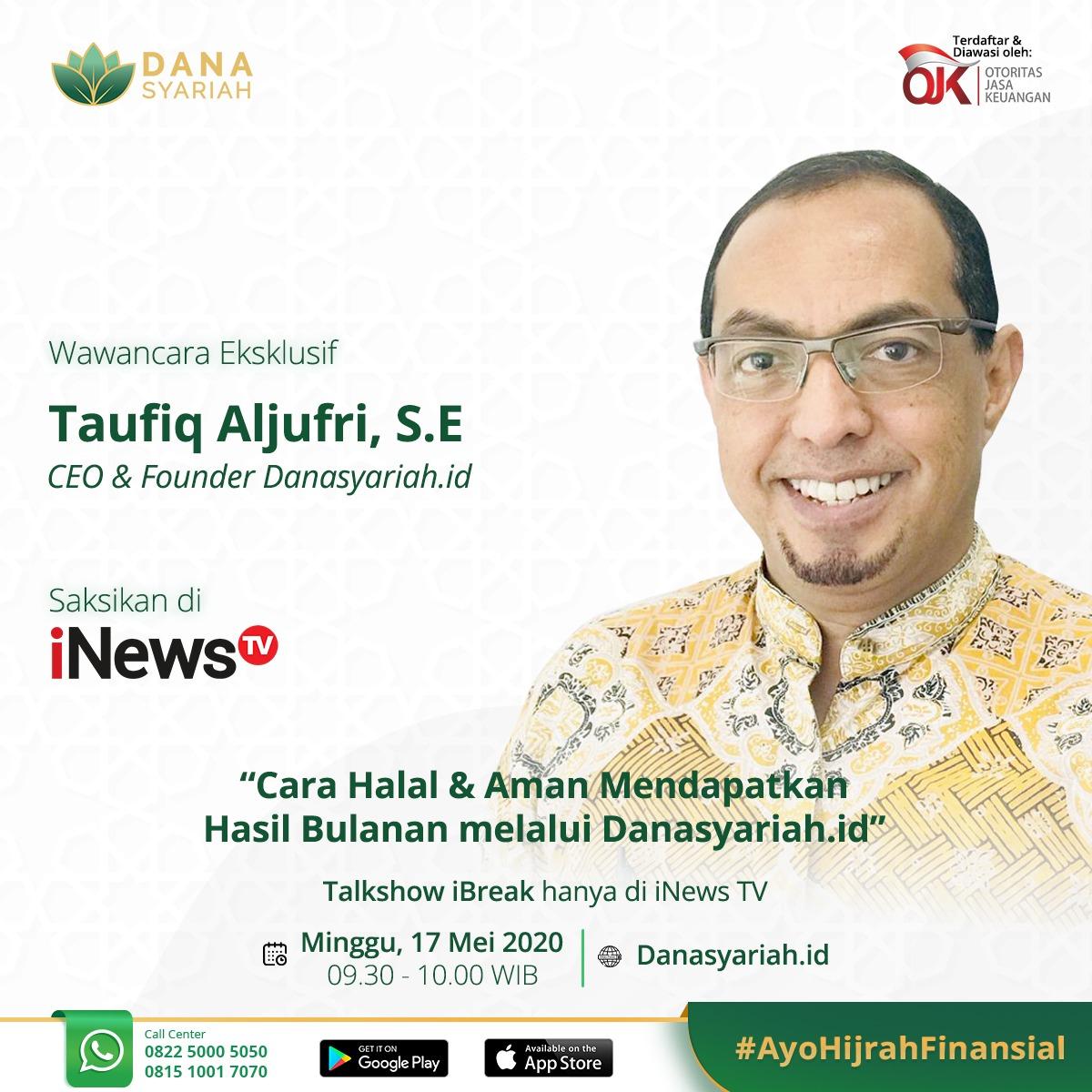 Dana Syariah Cara Halal dan Aman Mendapatkan Hasil Bulanan Melalui Danasyariah.id - Talkshow iNews TV
