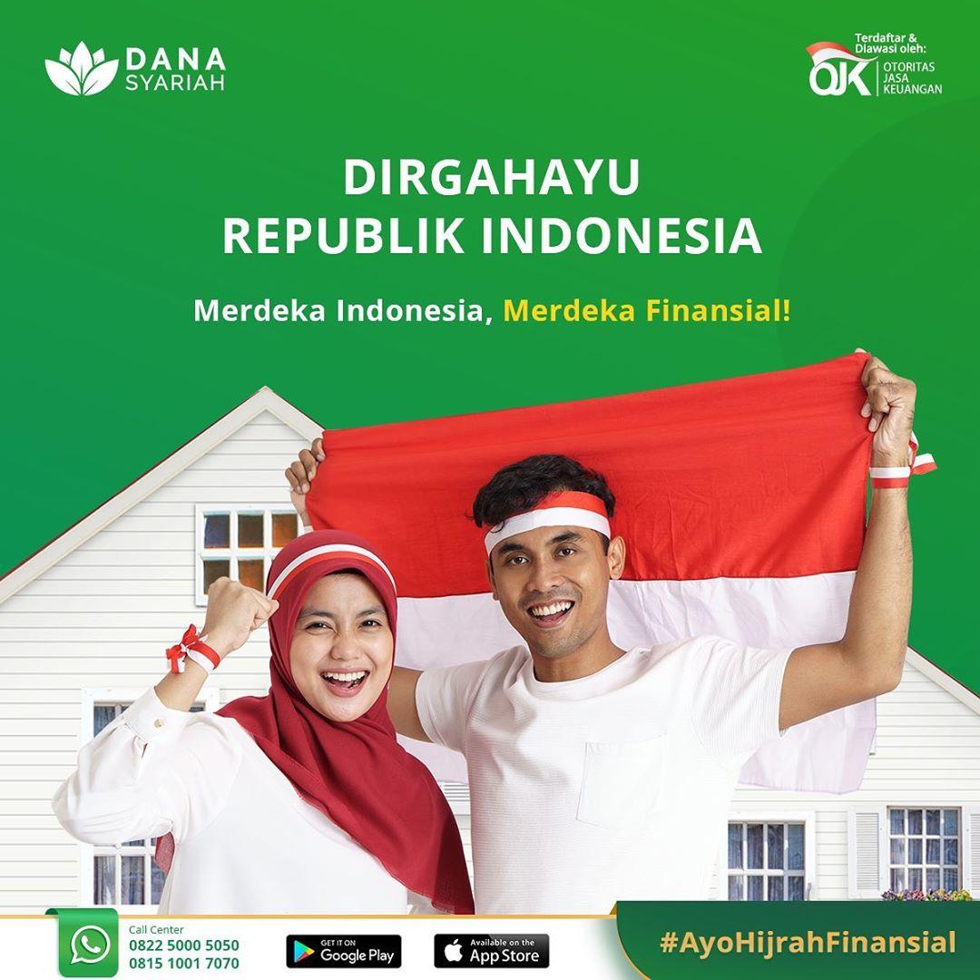 Dana Syariah Dirgahayu Indonesia Ku ke-75. Merdeka Indonesia, Merdeka Finansial.