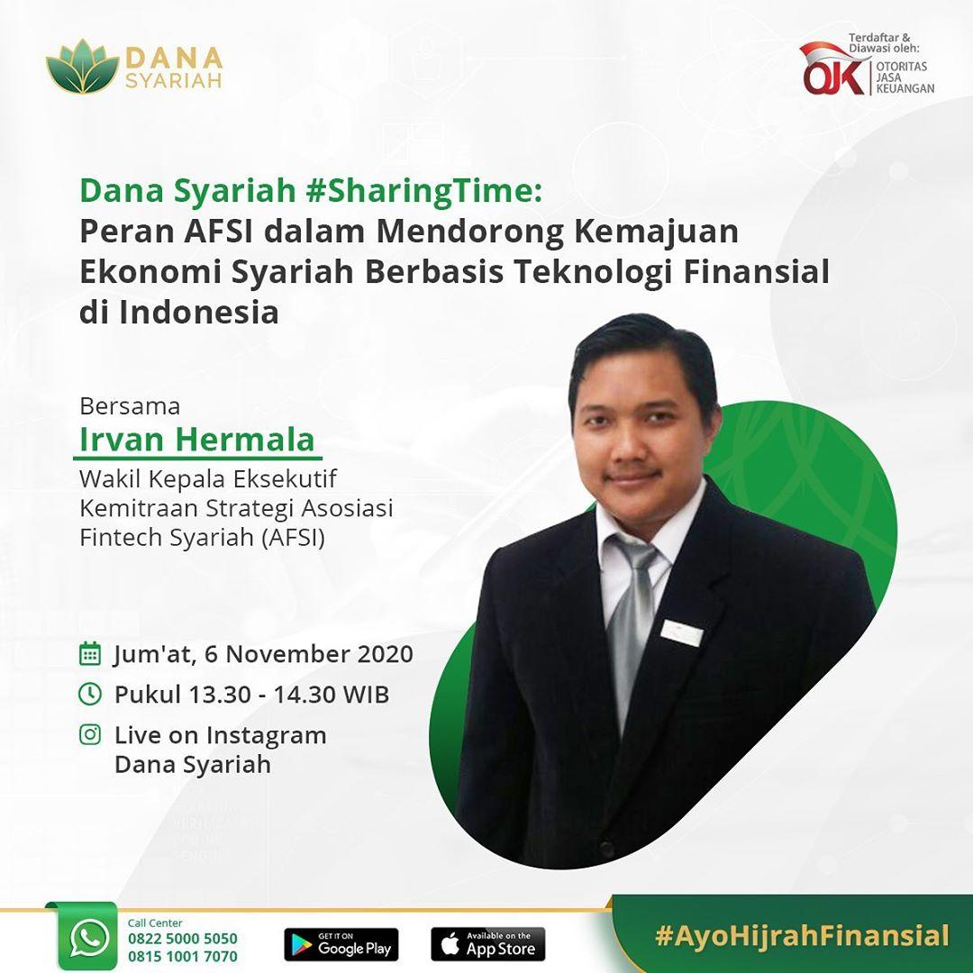 Dana Syariah Peran AFSI dalam Mendorong Kemajuan Ekonomi Syariah Berbasis Teknologi Finansial di Indonesia #SharingTime
