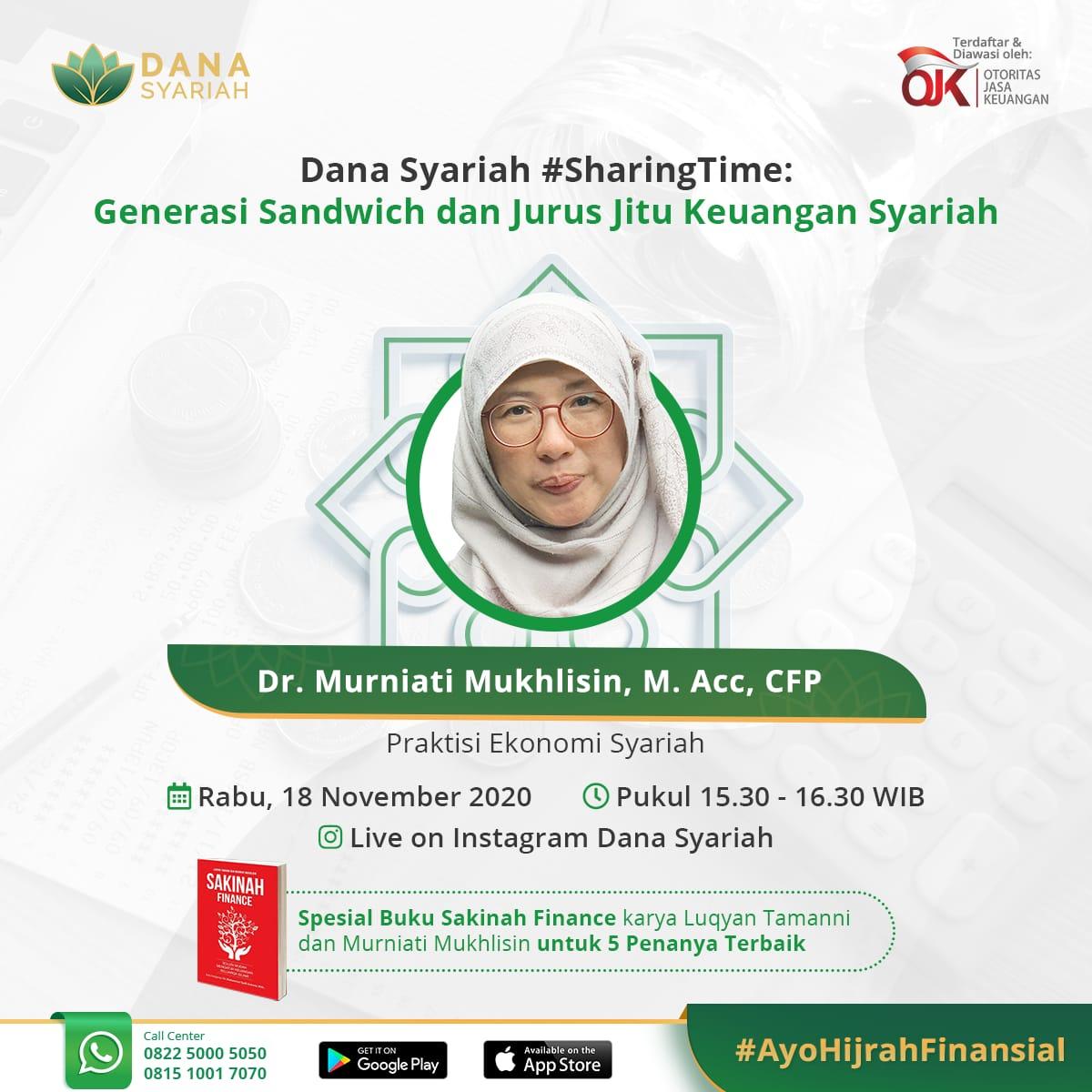 Dana Syariah Generasi Sandwich dan Jurus Jitu Keuangan Syariah #SharingTime