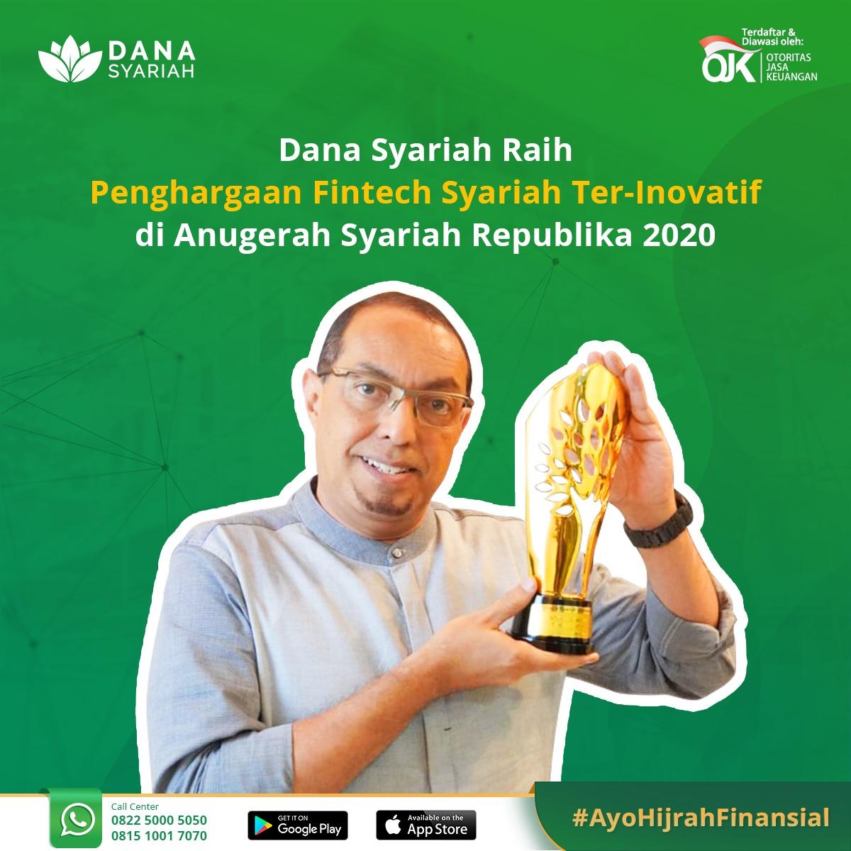 Dana Syariah Meraih Pengharagaan Fintech Syariah Ter Inovatif - Anugrah Syariah Republika 2020